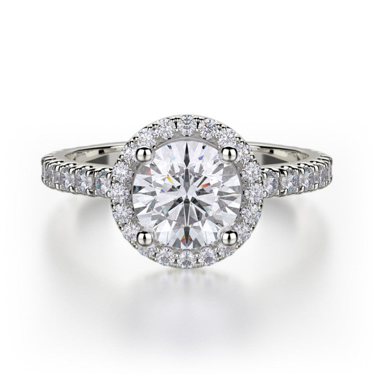 Michael M 18K White Gold Diamond Engagement Ring R320S-1