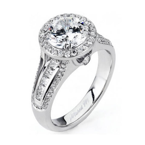Michael M 18K White Gold Diamond Engagement Ring R438-2
