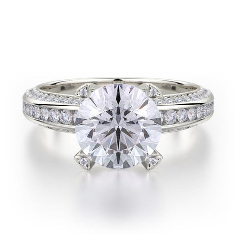 Michael M LOVE 18K White Gold Engagement Ring R457-2