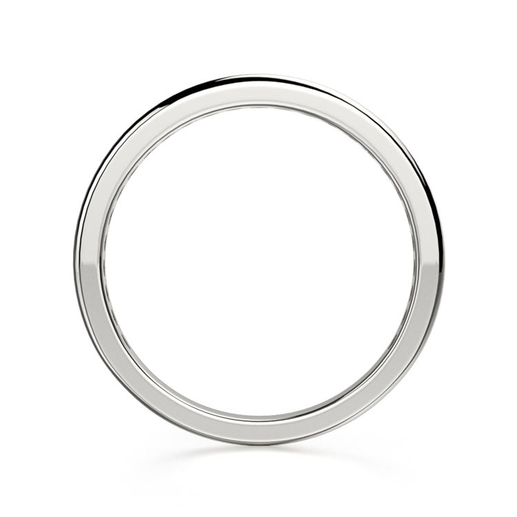 Michael M 18K White Gold Wedding Band R461SB