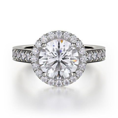 Michael M Love Round Center Engagement Ring R500-1