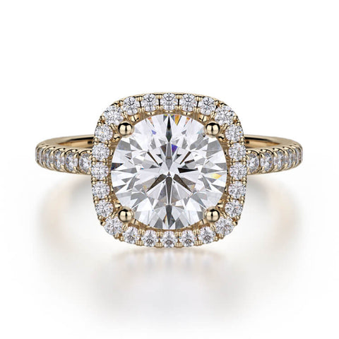 Michael M EUROPA Diamond Engagement Ring R536-1.5