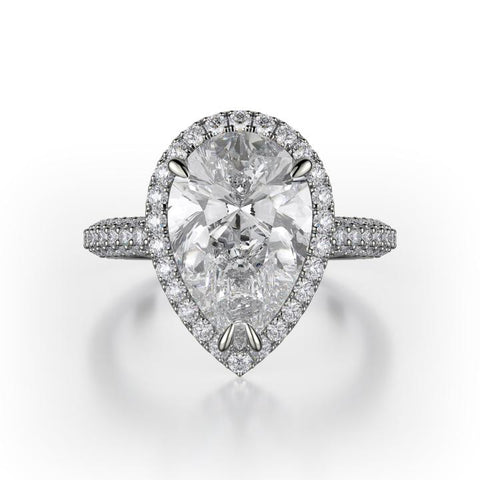 Michael M DEFINED Platinum Diamond Engagement Ring R730-2PR