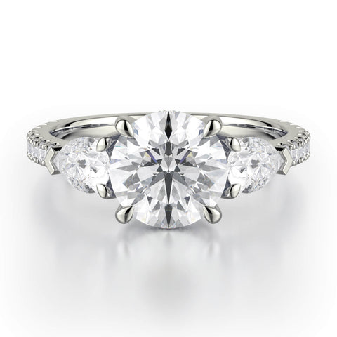 Michael M TRINITY Diamond Engagement Ring R758-2