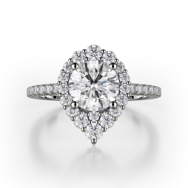 Michael M DEFINED 18K White Gold Engagement Ring R785-2