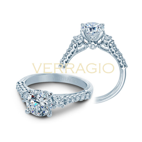 Verragio 14K White Gold Diamond Engagement Ring Renaissance-905R7