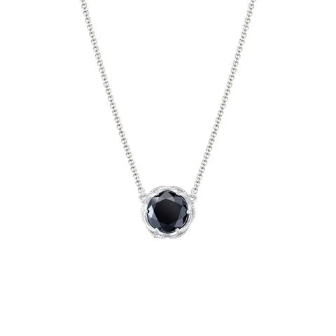 Tacori Bold Crescent Station Black Onyx Necklace SN22419