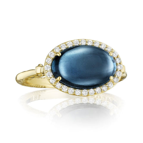 Tacori Golden Bay Oval Petite Pavé Oval Cabochon Ring SR188Y37