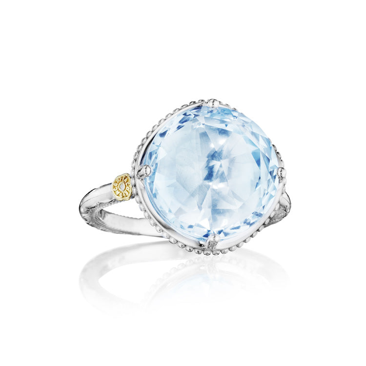 Tacori Island Rains Bold Simple Gem Sky Blue Topaz Ring SR22502