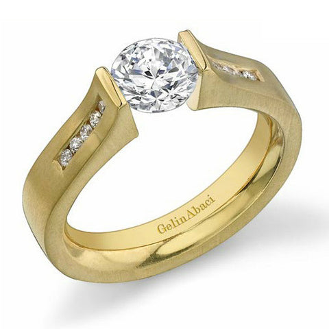 Gelin Abaci 14K Yellow Gold Diamond Ring TR-221A