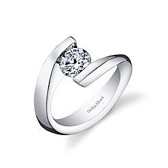Gelin Abaci Tension Diamond Engagement Ring TR-273A