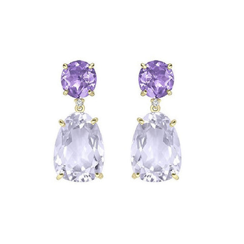 Vianna Brasil 18K Yellow Gold Amethyst Earrings Y1196PAA.E1