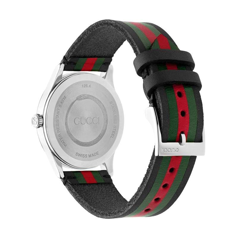 Gucci G-Timeless 38mm Black, Green, & Red Striped Men's Watch YA1264079