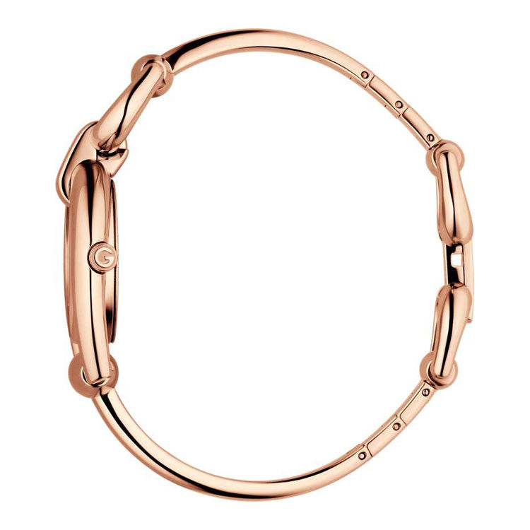 Gucci Women's Horsebit Small Pink Gold PVD Watch YA139508