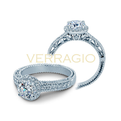 Verragio 18K White Gold Diamond Engagement Ring VENETIAN-5002R-1