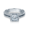 Verragio 18K White Gold Princess Center Diamond Engagement Ring VENETIAN-5007P