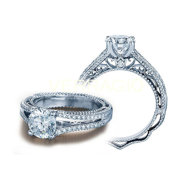 Verragio Pave-set Round Brilliant-cut Diamond Engagement Ring VENETIAN-5008