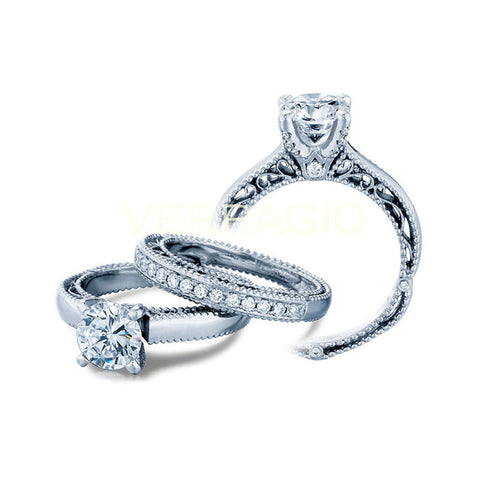 Verragio Venetian 18K White Gold Diamond Engagement Ring VENETIAN-5012-3