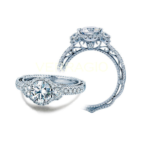 Verragio 18K White Gold Diamond Engagement Ring VENETIAN-5025R