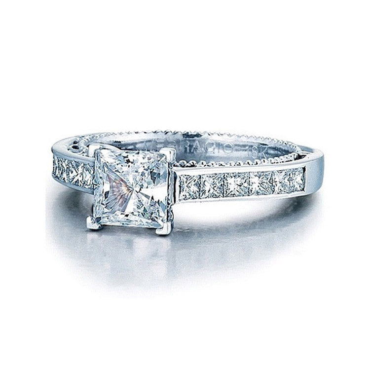 Verragio Princess Cut Channel Set Diamond Engagement Ring AFN-5029P