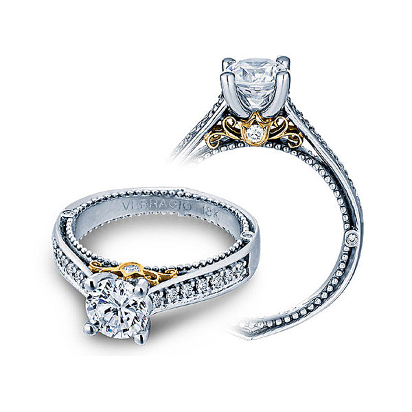 Verragio 18K White Gold Two Tone Engagement Ring VENETIAN-5044
