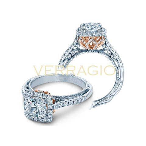 Verragio 18K White & Rose Gold Engagement Ring VENETIAN-5061CU-TT