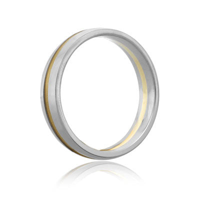 A.JAFFE Classic Two Tone Men's Wedding Band BB0051-PL