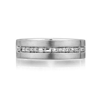 A.JAFFE 18K White Gold Men's Diamond Ring BB0181/16