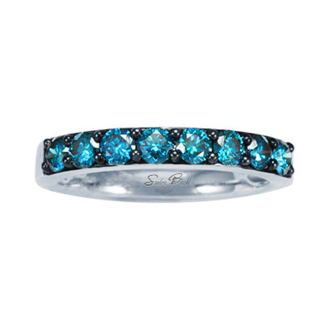Sandra Biachi Interchangeable Blue Diamond Single Row Band BC201BD