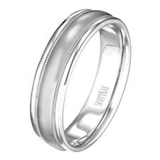 Scott Kay 14K White Gold Classic Men's Wedding Band C0224C65W6