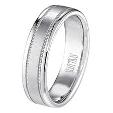 Scott Kay 14K White Gold Classic Men's Wedding Band C0368C60W6