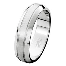 Scott Kay 14K White Gold Classic Men's Wedding Band C0522C60W6