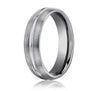 Benchmark Satin-finished Tungsten Men's Wedding Band CF56411TG