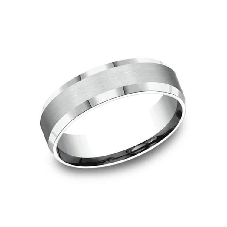 Benchmark 14K White Gold Men's Wedding Band CF66416W