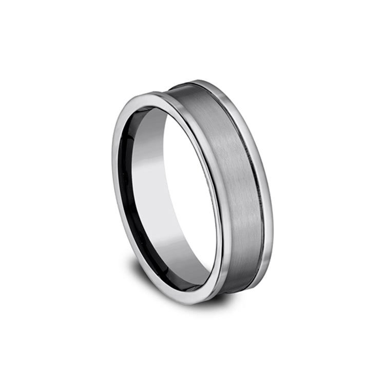 Benchmark Comfort-Fit Satin-finished 7mm Tungsten Men's Band CF67450