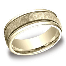 Benchmark Yellow Gold Men's Wedding Band CFYB158309YG