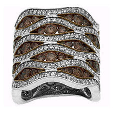 Sandra Biachi 14K White Gold Cafe Diamond Band CH418