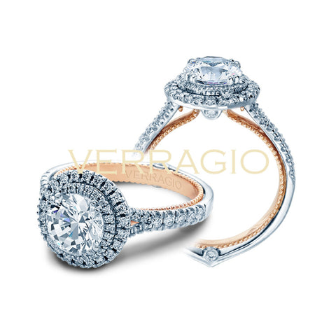 Verragio Double Row Halo Diamond Engagement Ring COUTURE-0425R-TT