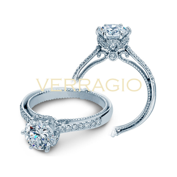 Verragio 18K White Gold Couture Diamond Engagement Ring COUTURE-0429DR