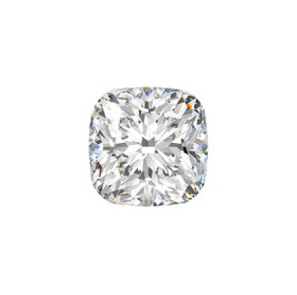 GIA 2.99 CT Cushion Modified Brilliant, L, SI1, Very Good Polish, Very Good Symmetry