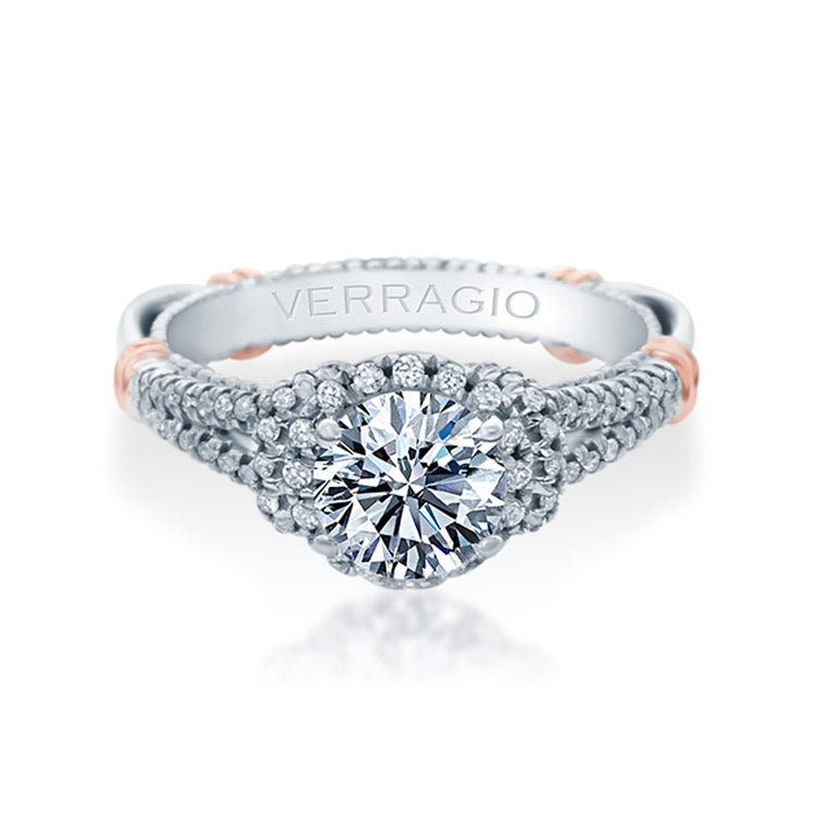 Verragio Parisian Halo Split Band Diamond Engagement Ring PARISIAN-117R