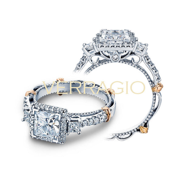 Verragio Halo Princess Cut Center Diamond Engagement Ring PARISIAN-122P