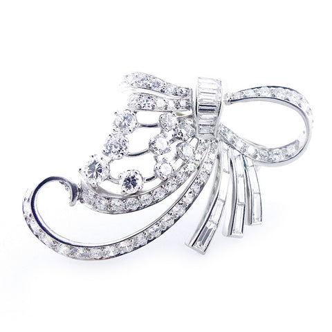 Vintage White Gold Diamond Pendant