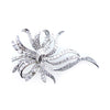 Vintage 14K White Gold Diamond Pin