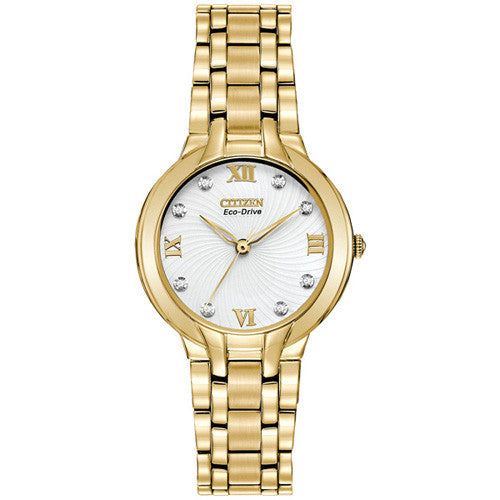 Citizen Bella Yellow Gold-Plated Bracelet Ladies Watch EM0132-59A