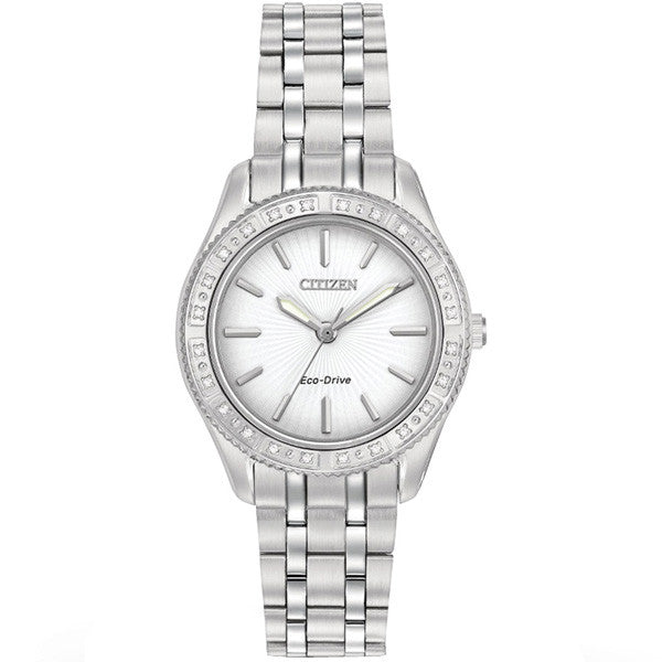 Citizen Carina Eco Drive Stainless Steel Women's Watch EM0240-56A