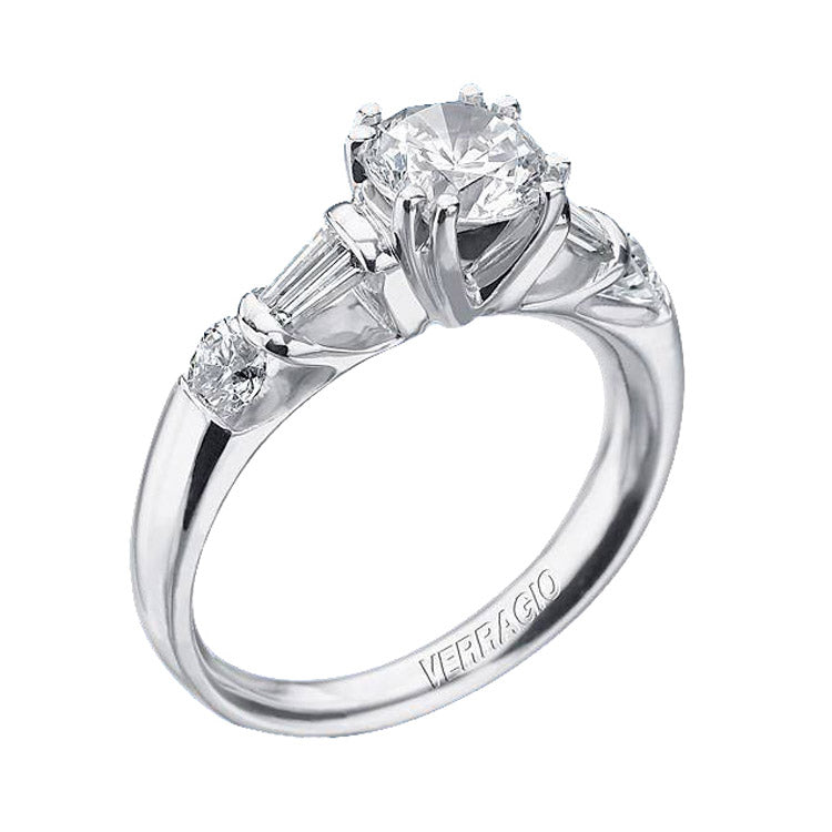 Verragio Platinum Round Center Engagement Ring Classico-0152