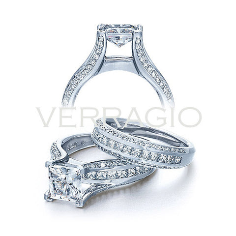 Verragio 3 Row Channel Princess Cut Diamond Engagement Ring CLASSICO-0262
