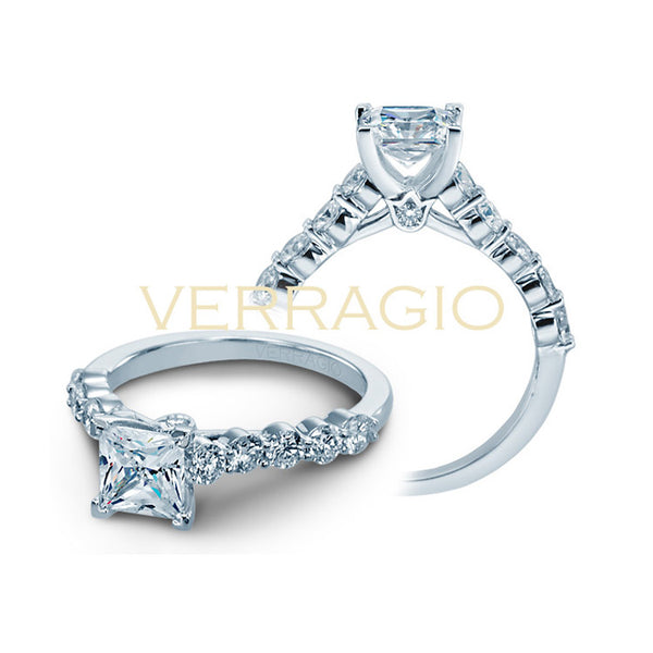 Verragio Princess Center Stone Engagement Ring COUTURE-0410MP