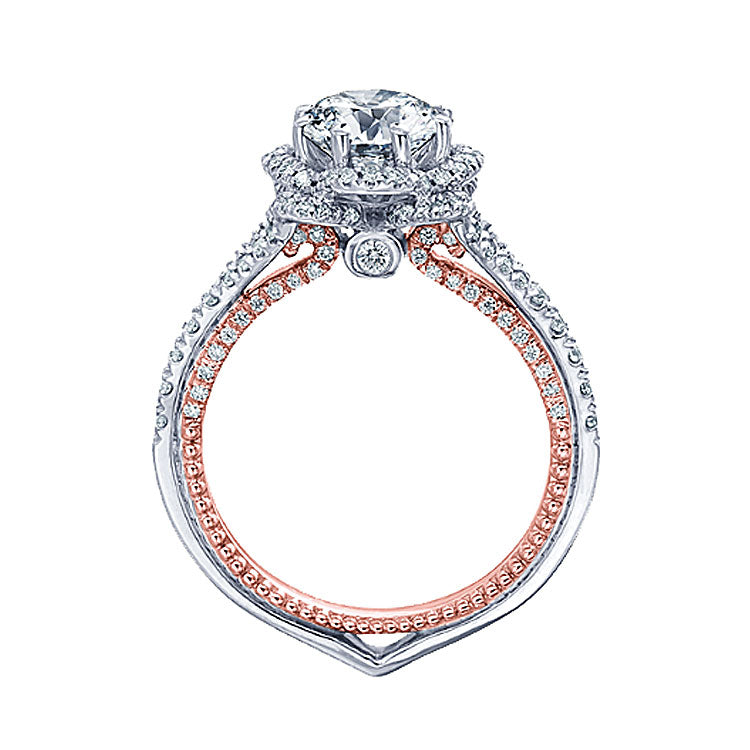 Verragio Two-Tone Floral Setting Diamond Engagement Ring COUTURE-0444-2WR